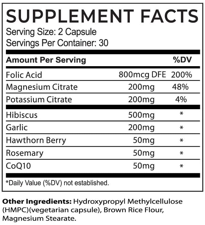 Circula BP Ingredients