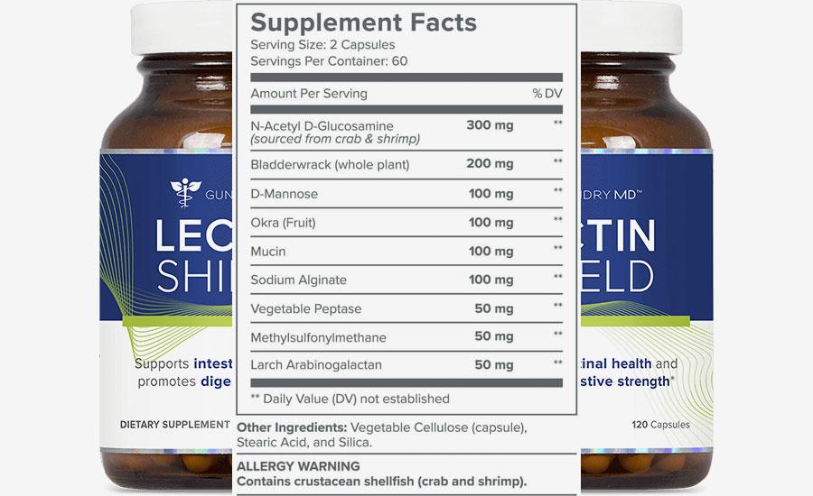 Lectin Shield Ingredients