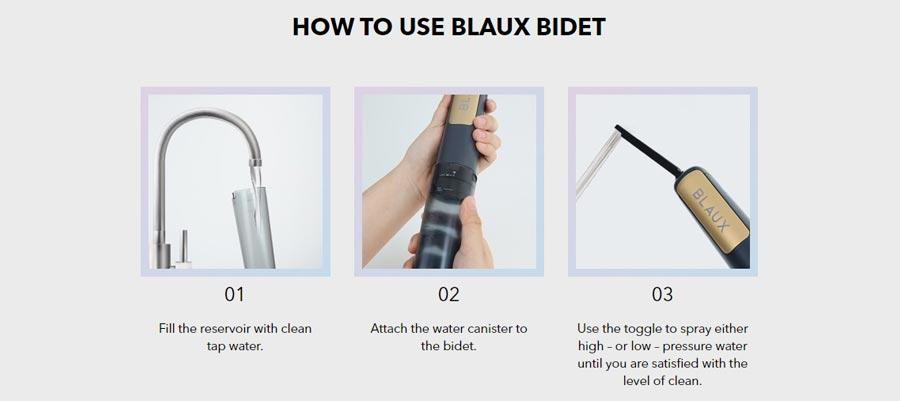 Blaux Portable and Adjustable Premium Bidet