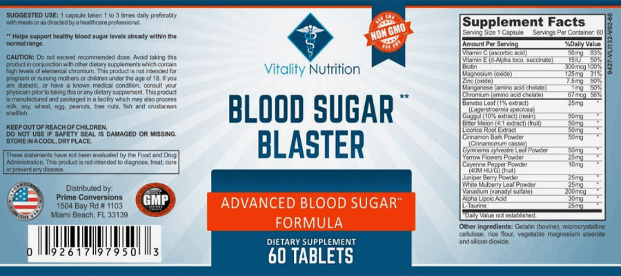 Blood Sugar Blaster Ingredients