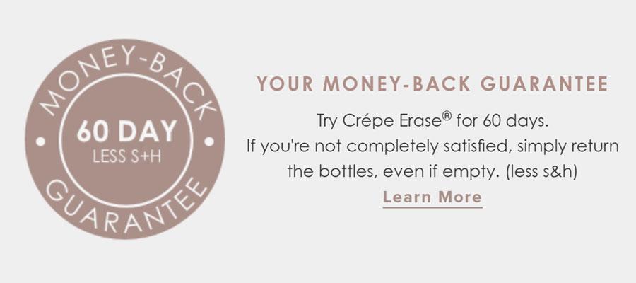 Crépe Erase Money-Back Guarantee
