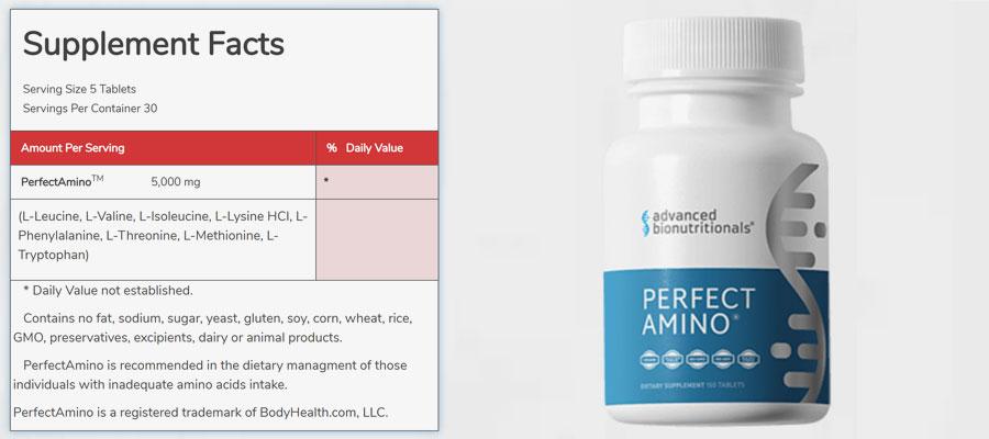 Perfect Amino Ingredients